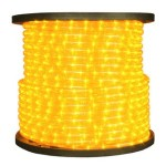 150' Spool of Yellow LED Ropelight 10MM