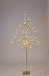 5' Warm White LED Gold Branch Tree