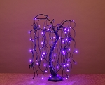 2' Halloween Willow Bonsai Tree Purple LED