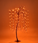 4' Halloween Willow Tree Orange LEDs