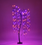 4' Halloween Willow Tree Purple and Orange LEDs