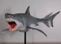 12' Great White Shark with Metal Stand