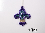 Purple Fleur Ornaments 6 Pack
