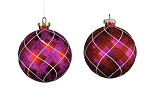 RED & WHITE 100MM BALL ORNAMENTS 4PK