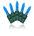 4'x6' M5 Blue LED Net Lights with Green Wire