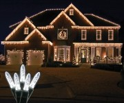 Standard Grade M5 Pure White Icicle LED Light Set