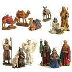 Three Kings Nativity Ornament 10 pc Set with Wooden Chest