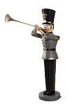BLACK /WHITE TOY SOLDIER WITH TRUMPET 6'