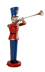 TOY SOLDIER WITH TRUMPET RED/BLUE 6'