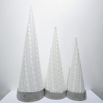 Gray Cone Trees 3 Pack