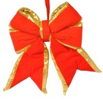 Red Bow with Gold Trim 12