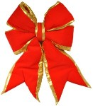 Red Bow with Gold Trim 18