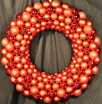 4' Red Ornament Wreath