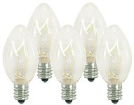 Incandescent Clear C7 Dimmable Bulbs E12 Base