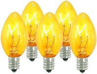 Dimmable Incandescent C7 Transparent Yellow Bulbs E12 Base