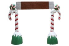 8' Candy Cane Arch with Chocolate Bar