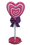 4' Pink Mini Heart Candy With Base