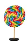 Rainbow Swirl 7' Peppermint Candy Tree with Base