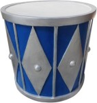 Blue and Silver 2' Drum