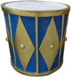 Gold and Blue 2' Drum