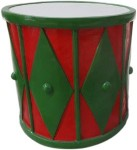Red and Green 2' Drum