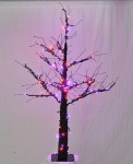 4.5' Halloween Tree with Purple and Orange LEDs