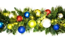 9' Pine Blended  Fiesta Collection Garland Pre-Lit with Warm White LEDs