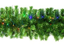 Sequoia 9' Garland Pre-Lit with Multi Colored LEDs