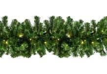 Sequoia 9' Garland Pre-Lit with Warm White LEDs