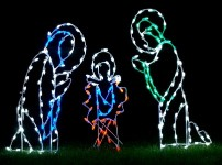 Three Piece LED Nativity Scene Ground Mount
