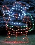 Waving Santa LED Ground Mount
