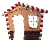 Gingerbread House 8' Front Panel