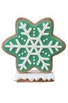 Iced Green Gingerbread Snowflake Style 1