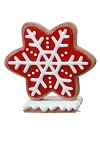 Iced Red Gingerbread Snowflake Style 1