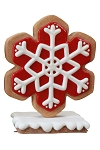 Iced Red Gingerbread Snowflake Style 2