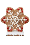 Red Gingerbread Snowflake Style 3