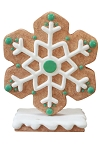 Green Gingerbread Snowflake Style 4