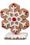 Red Gingerbread Snowflake Style 4