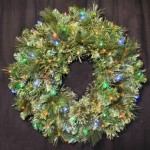 Blended Pine 2' Wreath Pre-Lit with Multi Colored LEDs