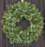 Blended Pine 2' Wreath Pre-Lit with Pure White LEDs