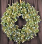 3' Mixed Blend Wreath Pre-Lit with Pure White LED Lights