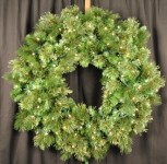 Mixed Blend 3' Wreath Pre-Lit with Warm White LED Lights
