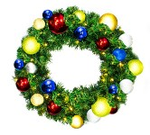Sequoia 2' Wreath Decorated with The Fiesta Collection and Pre-Lit Warm White LEDS