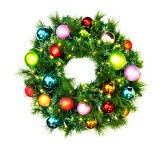 2' Sequoia Pre-Lit Wreath Decorated with the Tropical Ornament Collection