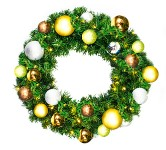 2' Sequoia Pre-Lit Wreath Decorated with the Woodland Ornament Collection