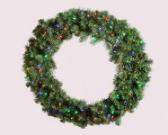 Sequoia 3' Wreath Pre-Lit with Multi Colored LEDs
