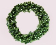 Sequoia 3' Wreath Pre-Lit with Pure White LEDs