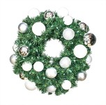 Sequoia 4' Wreath Decorated with The Iceland Collection Pre-Lit Warm White LEDS