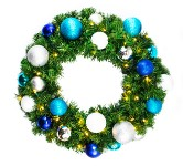 Pre-Lit 5' Sequoia Wreath Decorated with The Arctic Collection