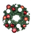 Sequoia 5' Wreath Decorated with The Candy Collection Pre-Lit Warm White LEDs